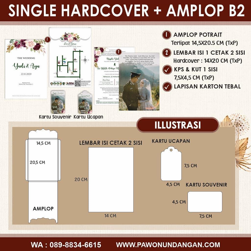 single hardcover amplop b2