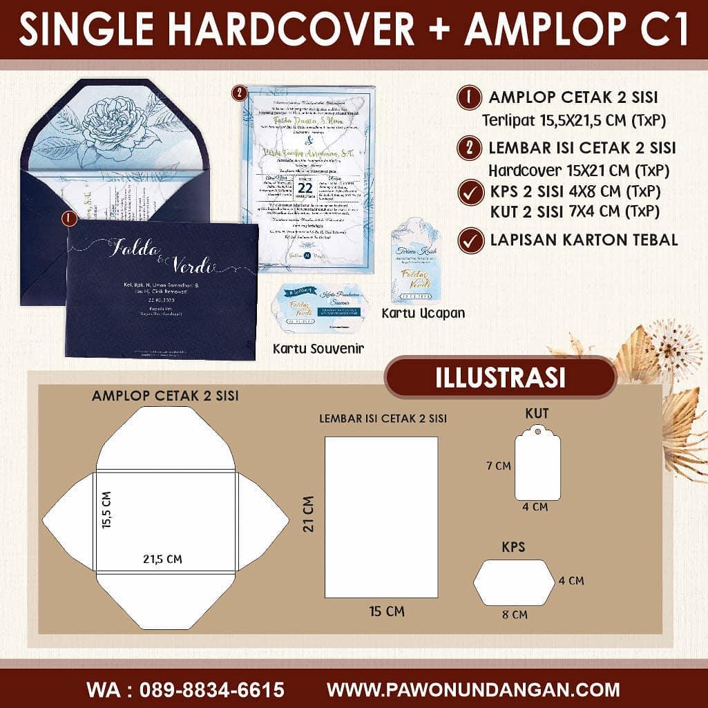 single hardcover amplop c1