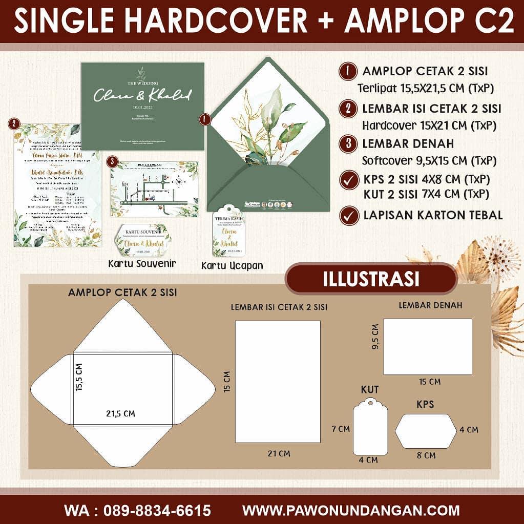 single hardcover amplop c2