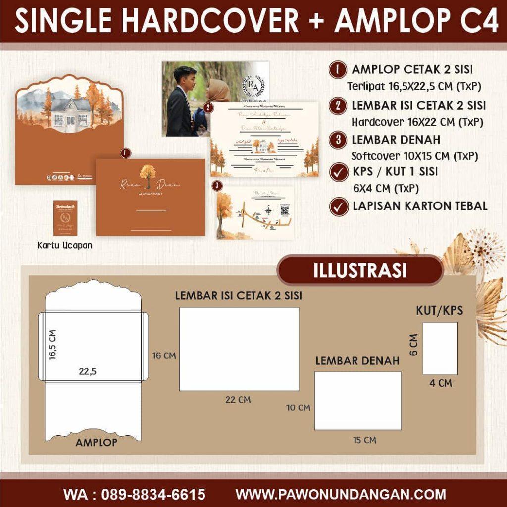 single hardcover amplop c4