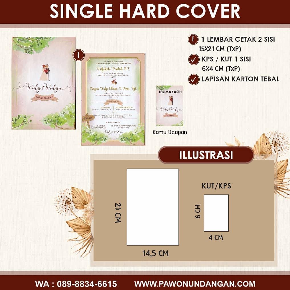 undangan single hardcover