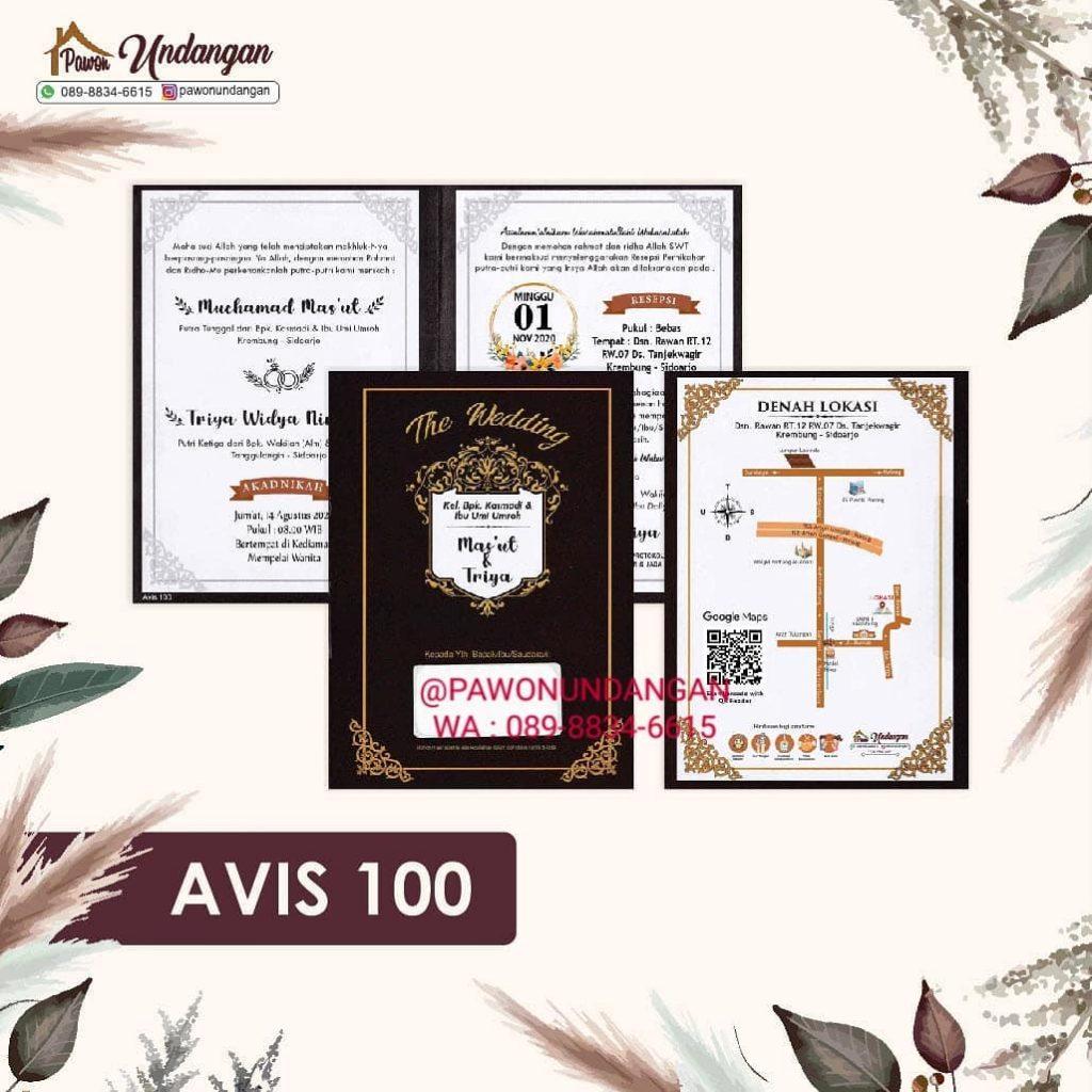 undangan avis 100