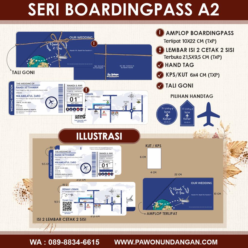 undangan custom boardingpass A2