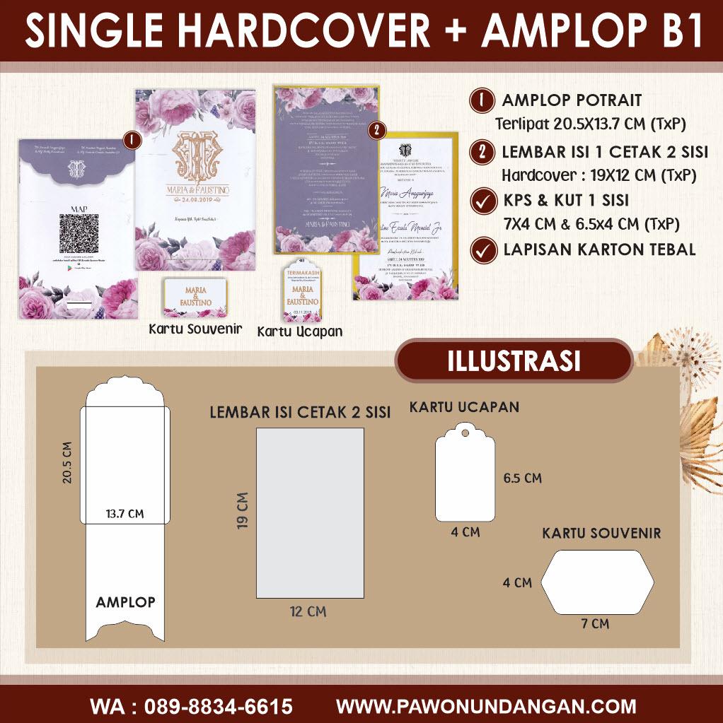 undangan custom single hardcover amplop b1