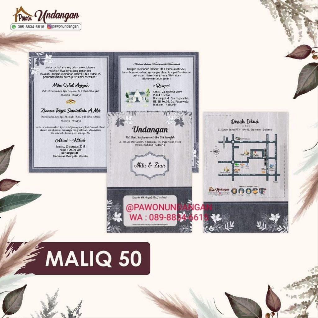 undangan maliq 50