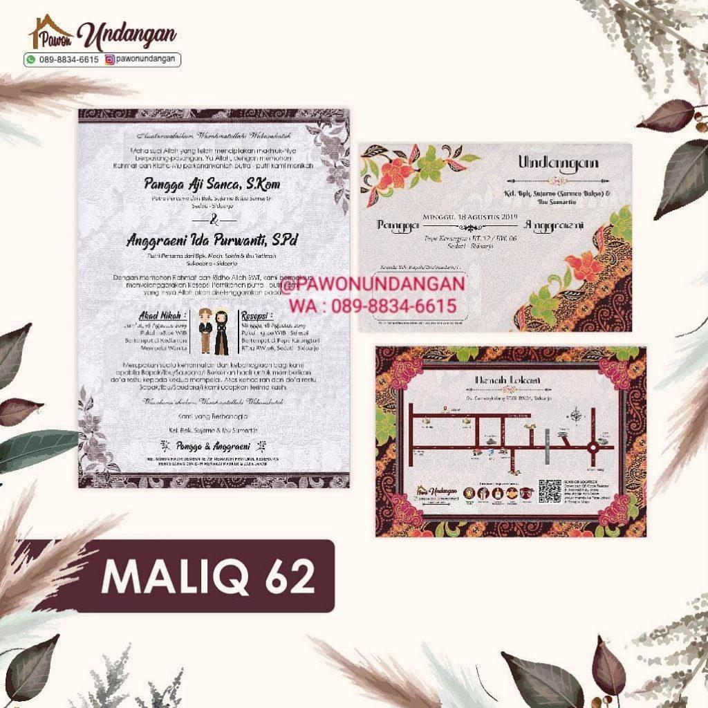 undangan maliq 62