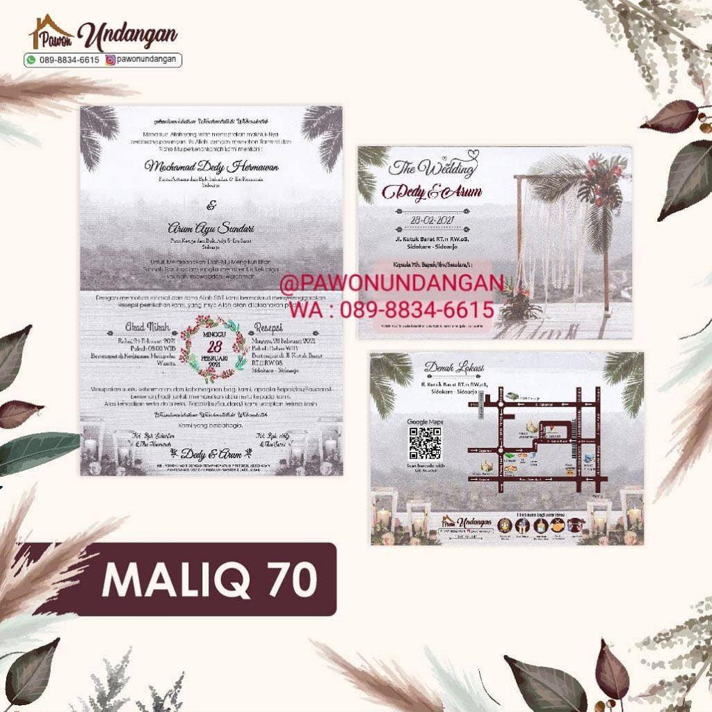 undangan maliq 70