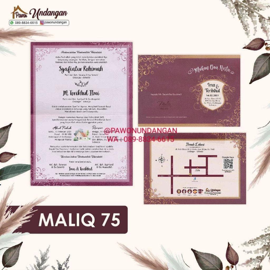 undangan maliq 75