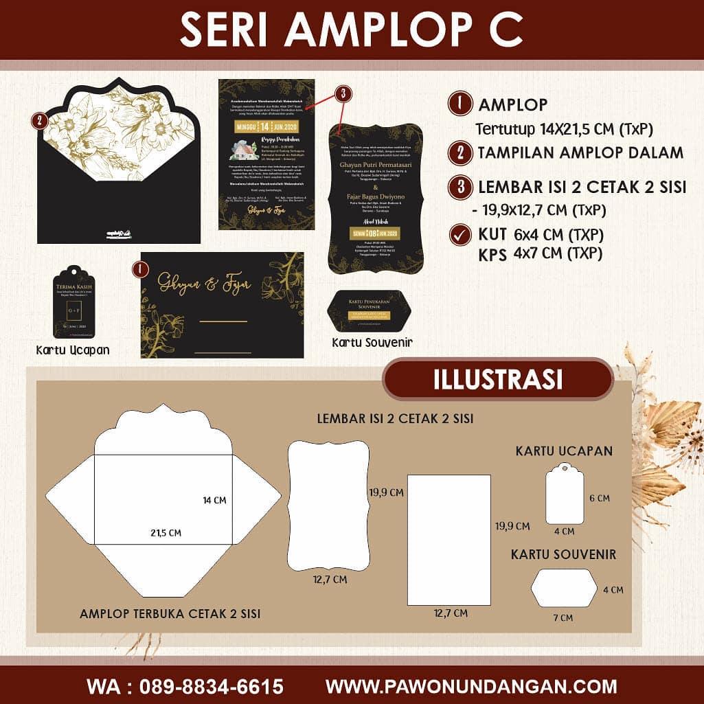 undangan softcover amplop c