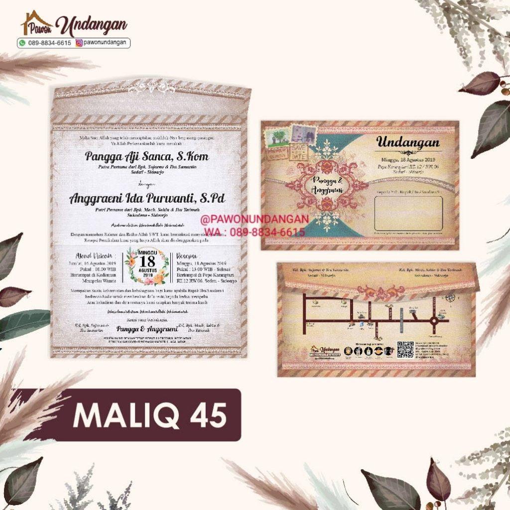 undangan maliq 45