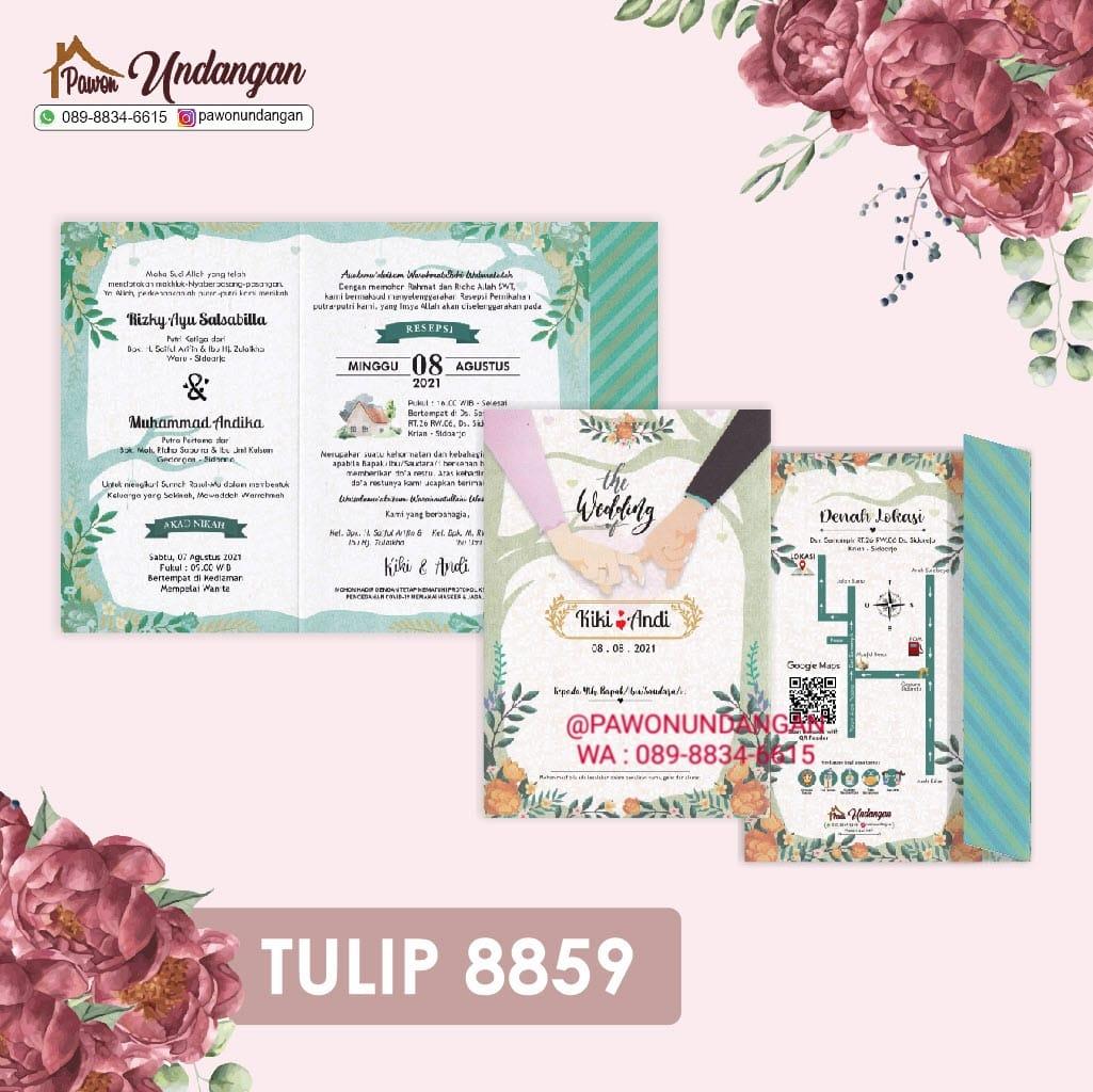undangan tulip 8859