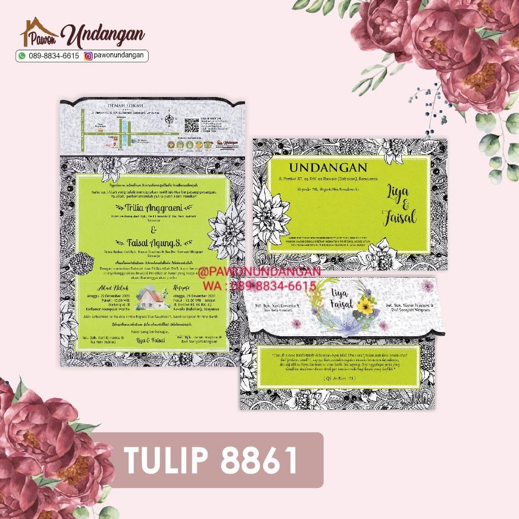 undangan tulip 8861