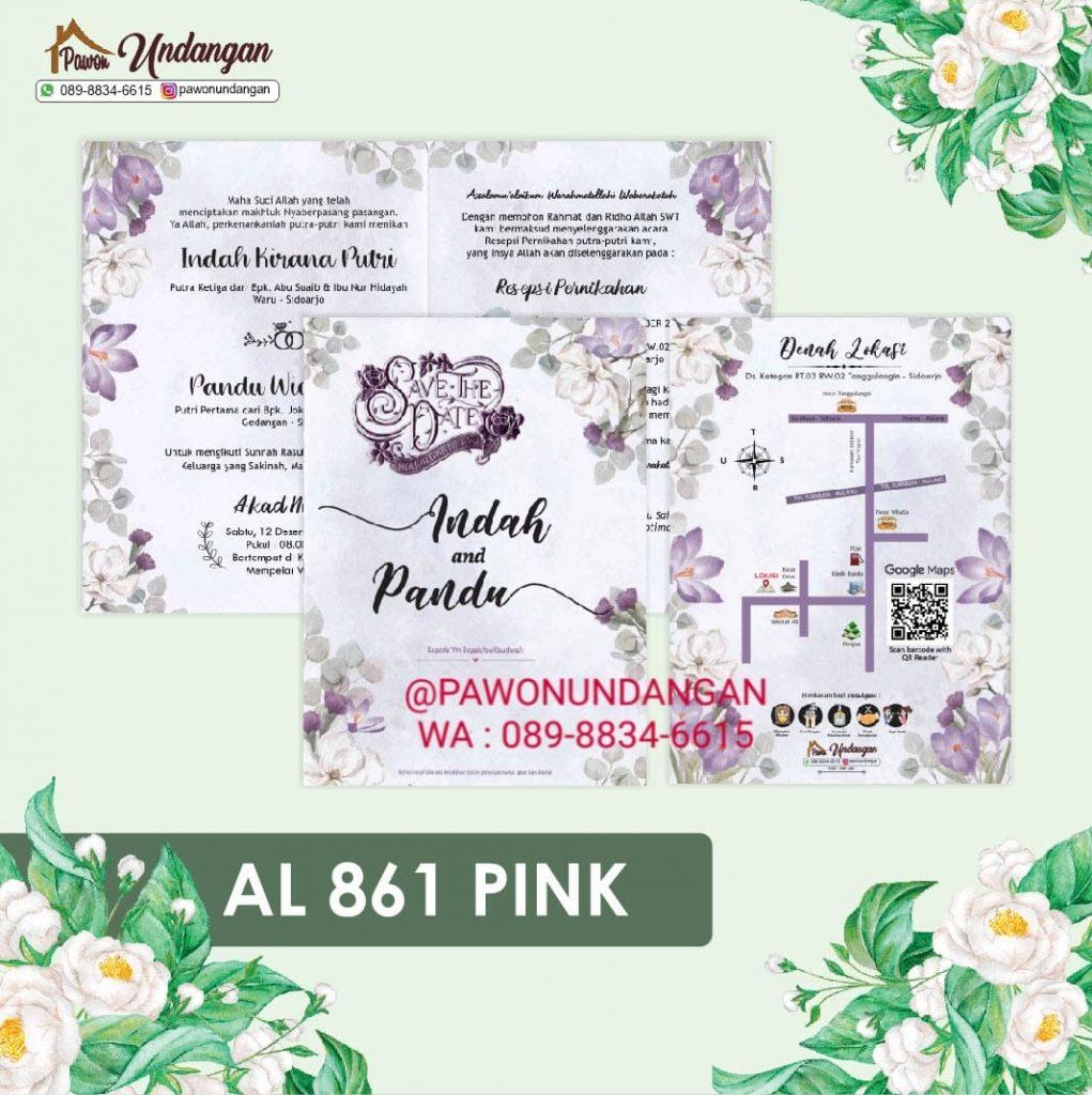undangan alila 861 pink