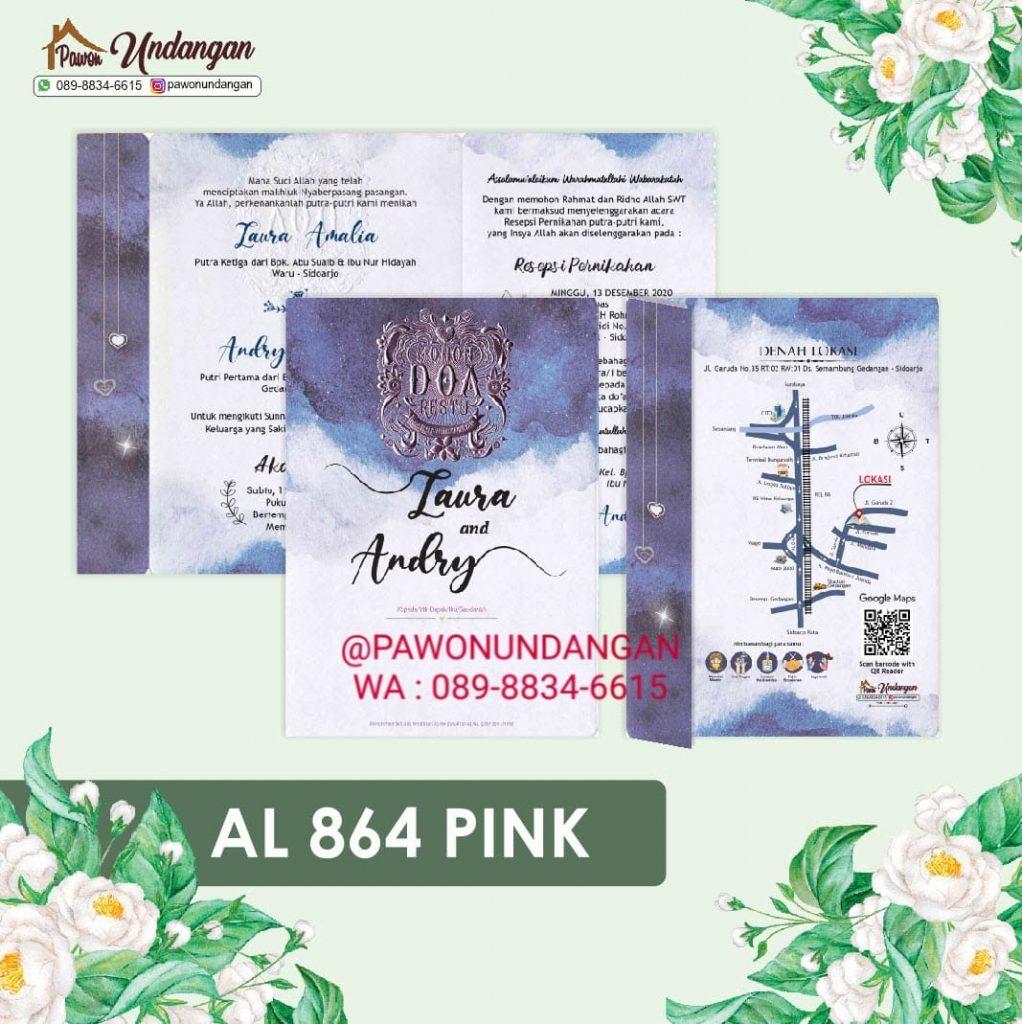undangan alila 864 pink