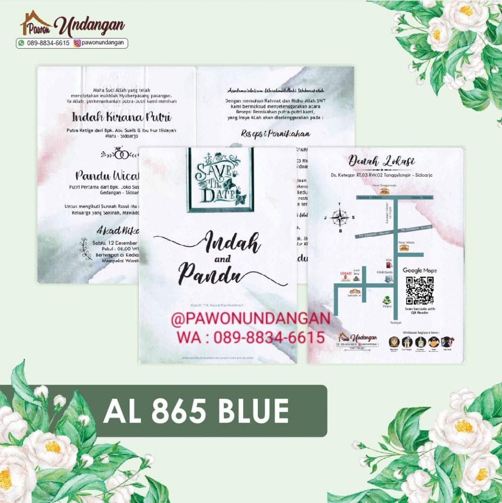 undangan alila 865 blue