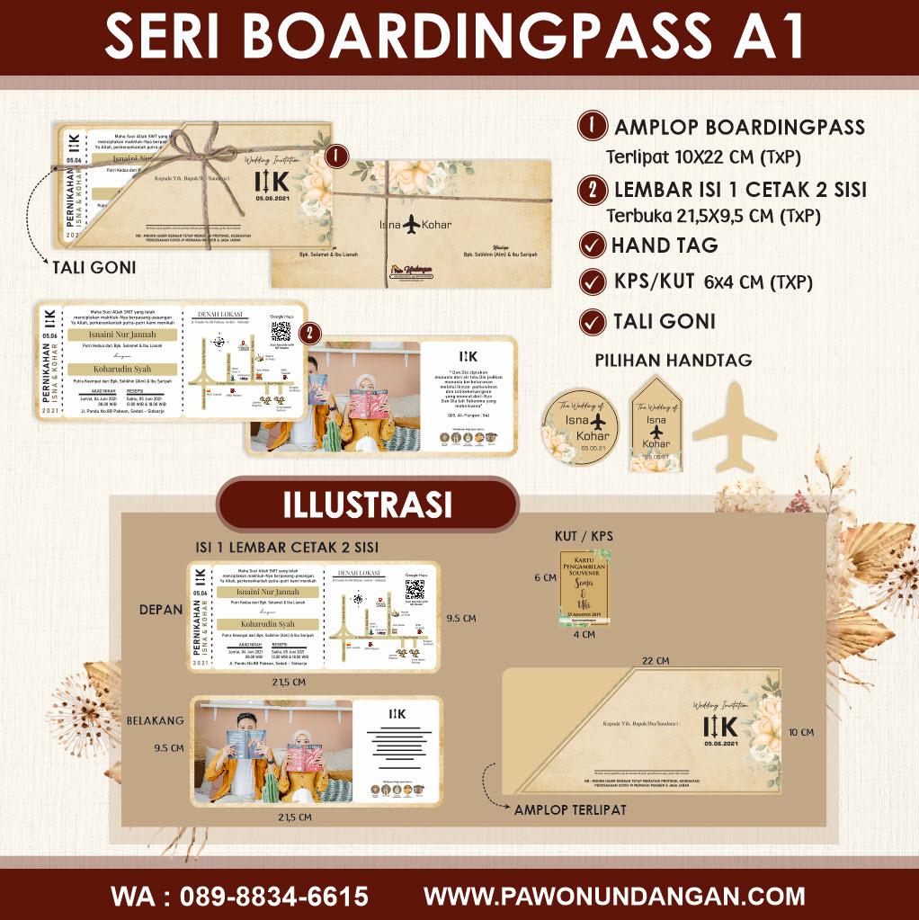 undangan custom boardingpass A1