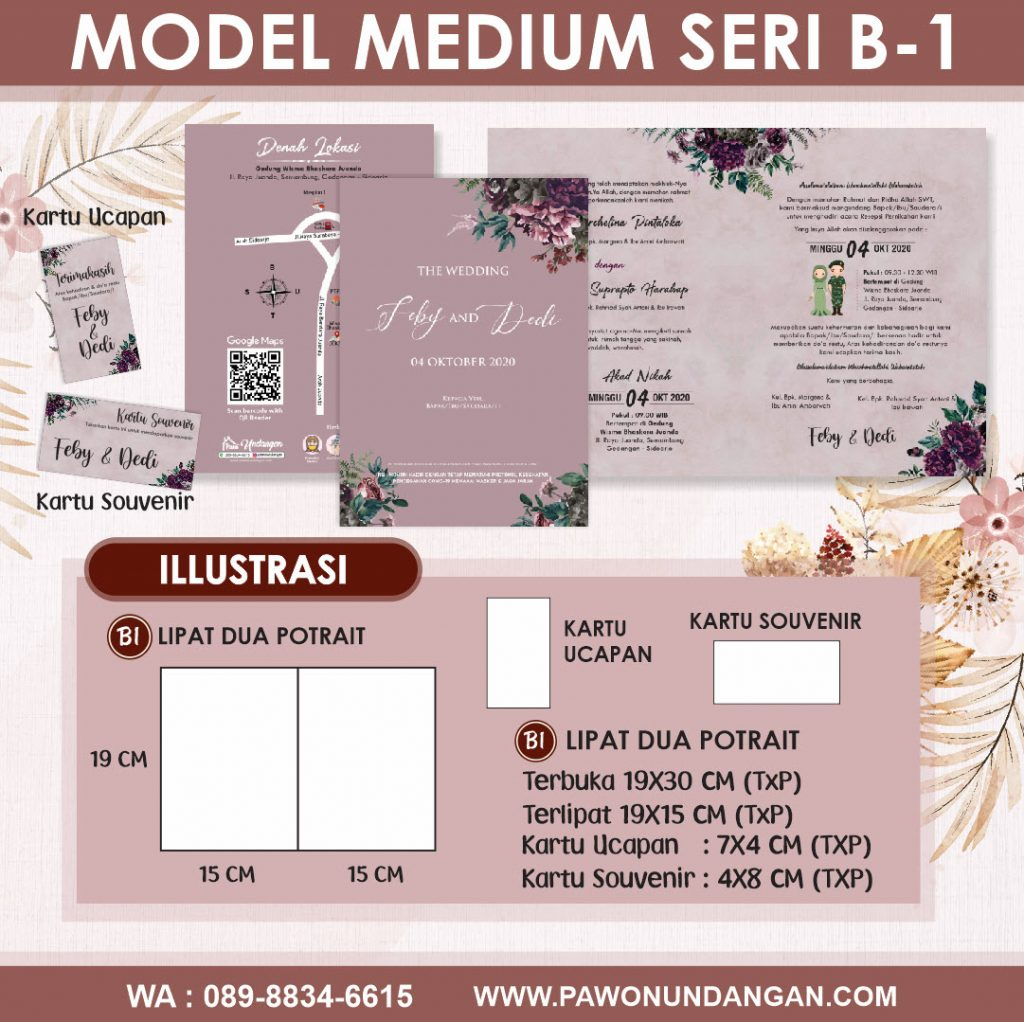undangan softcover medium b1
