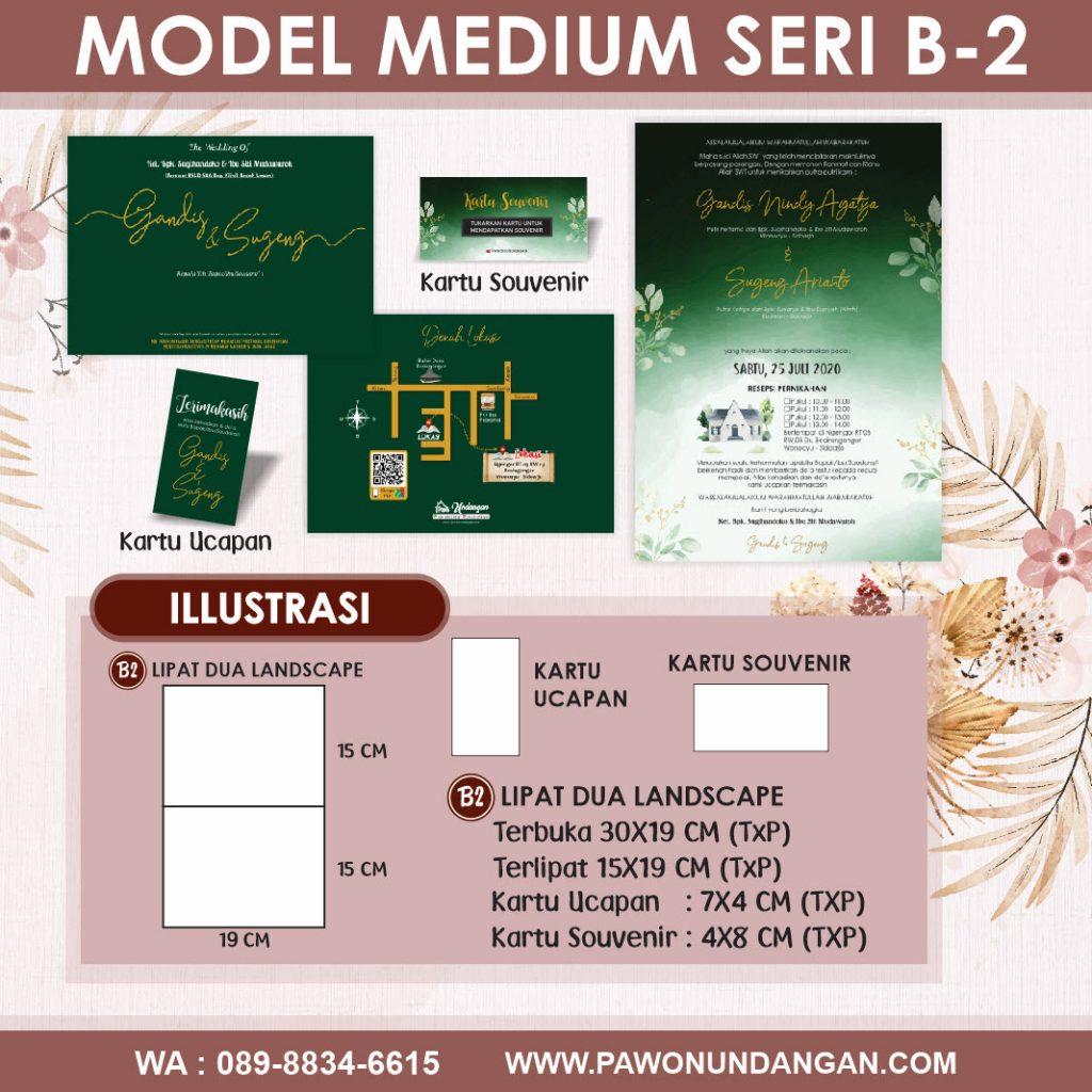 undangan softcover medium b2