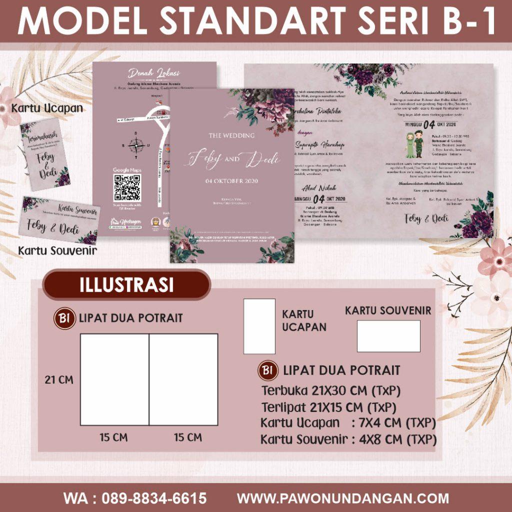 undangan softcover standart b1