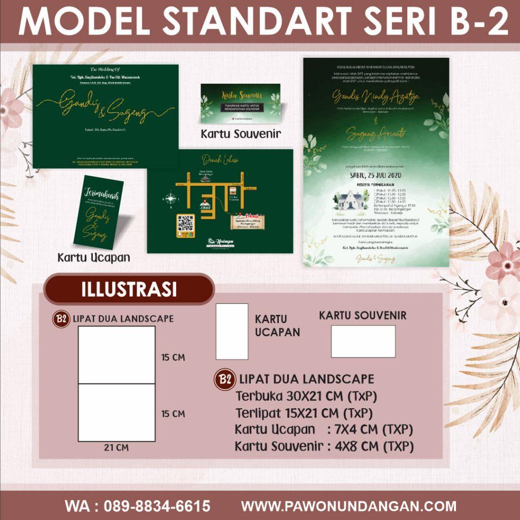 undangan softcover standart b2