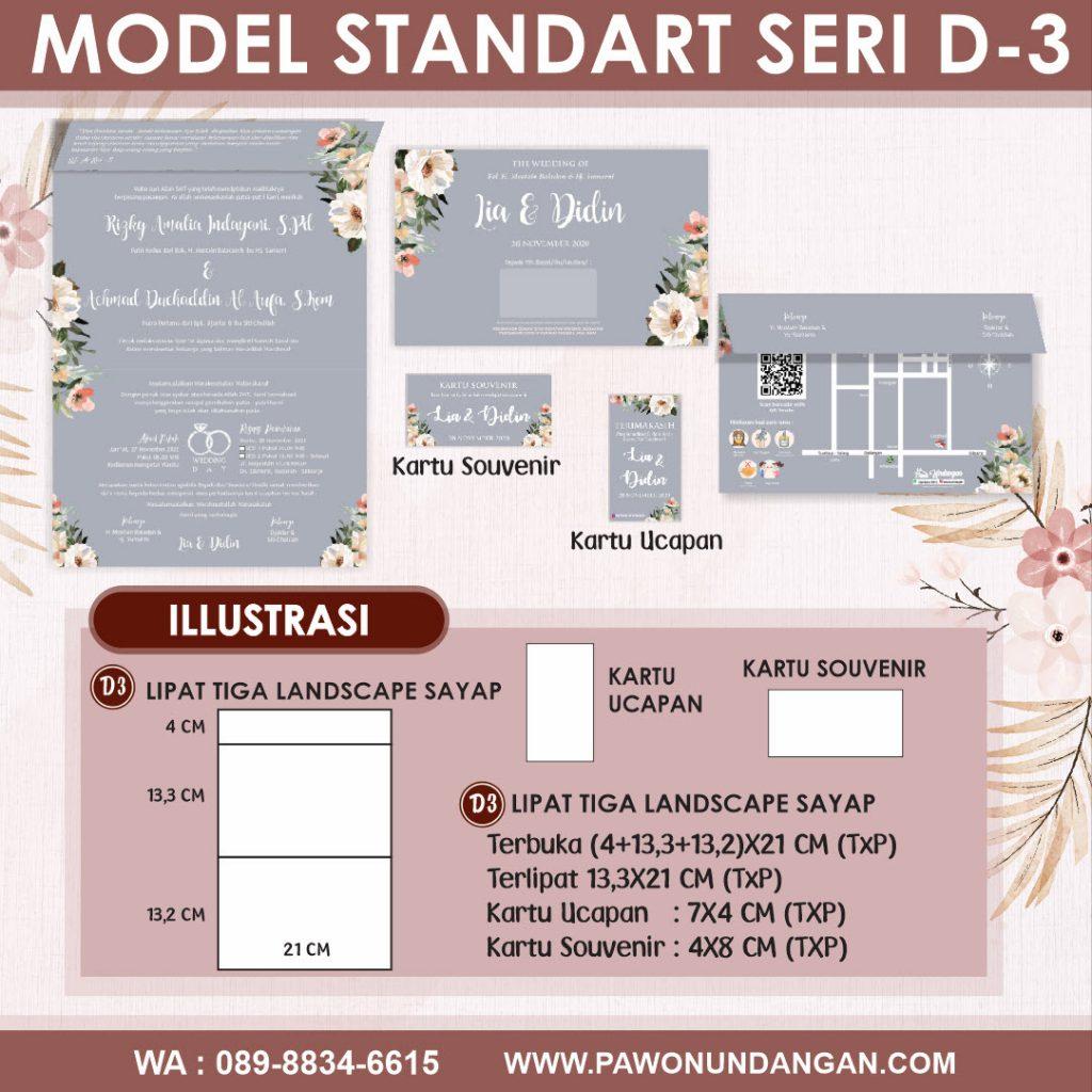 undangan softcover standart d3