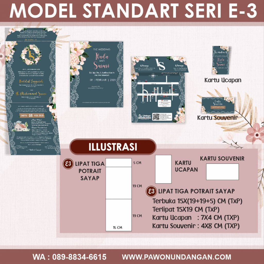 undangan softcover standart e3