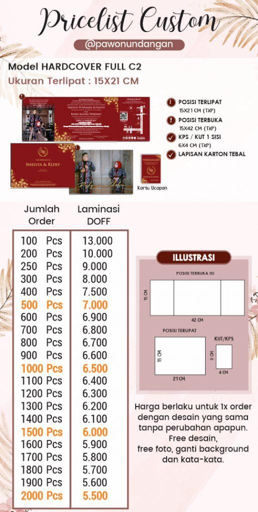 pricelist undangan custom hardcover full c2