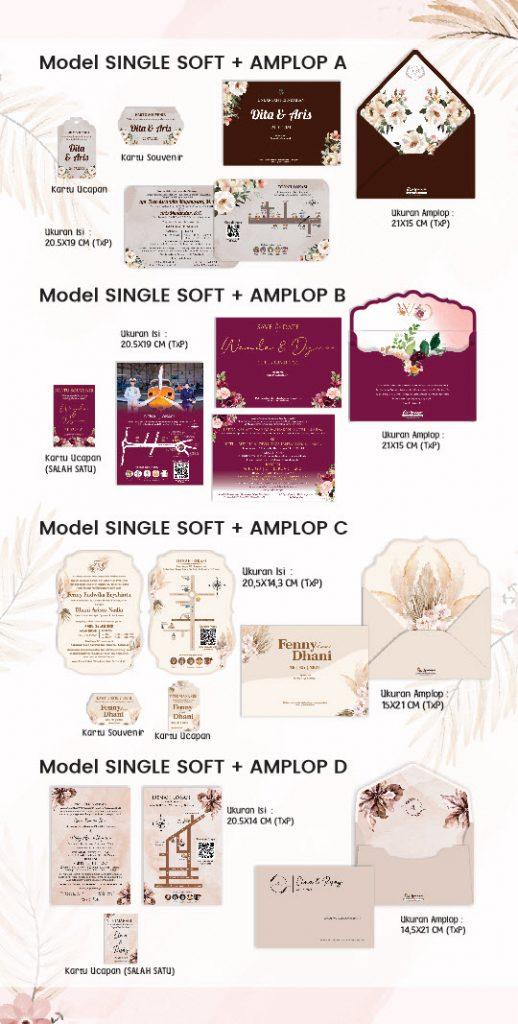 variasi undangan custom single softcover + amplop