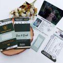 Undangan Custom Seri Unik Passport B1, Rani & Erick